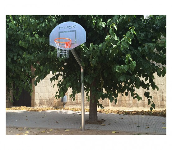Anti-vandalism basketball goal