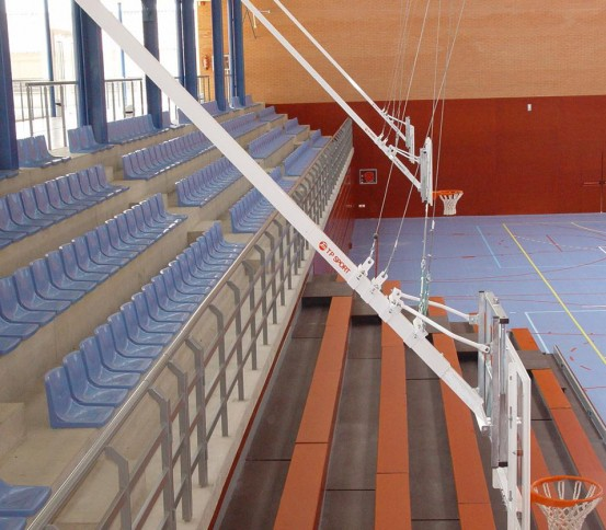 Single post ceiling hung Basketball goal - Basketball goals - Basket