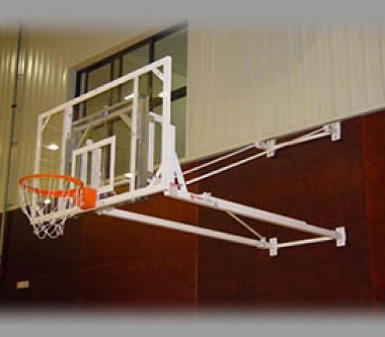 side-fold wall-mounted basketball goal  - Basketball goals - Basket