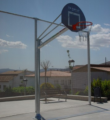 Anti-vandalism basketball goal