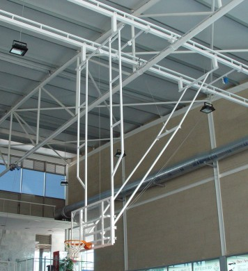 Double Post Celing hung Basketball goal