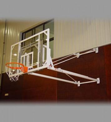 side-fold wall-mounted basketball goal