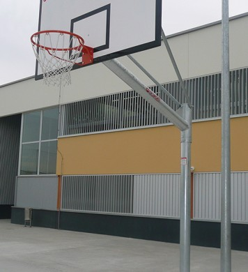 Fixed basketball goal