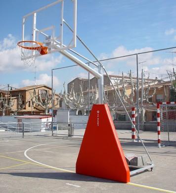Canasta de baloncesto trasladable