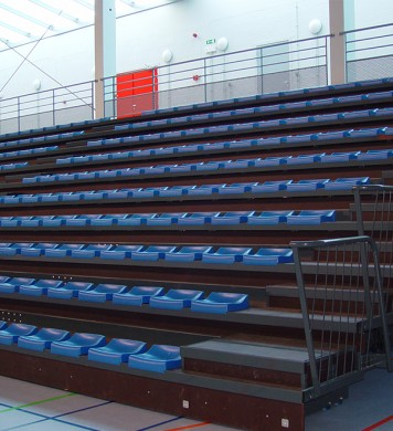 Telescopic tribunes GATEL 120