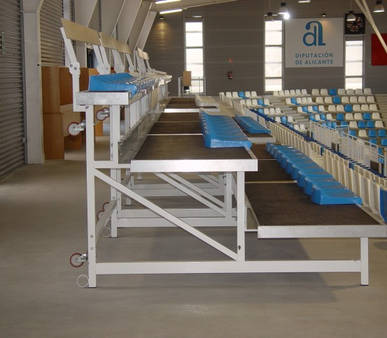 Grada reversible GAREV 110 - Gradas reversibles - Gradas y tribunas