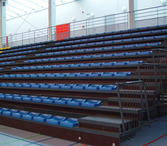 Telescopic tribunes GATEL 120 - Telescopic tribune  - Tribunes and Grandstands
