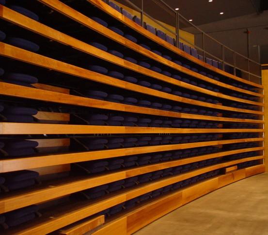 Telescopic tribunes GATEL 150 - Telescopic tribune  - Tribunes and Grandstands